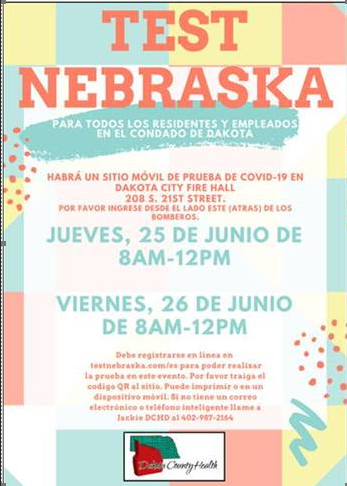 "El programa ""Test Nebraska"" abrira en Dakota City"