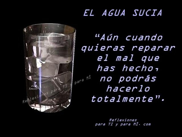 El agua sucia Reflexion