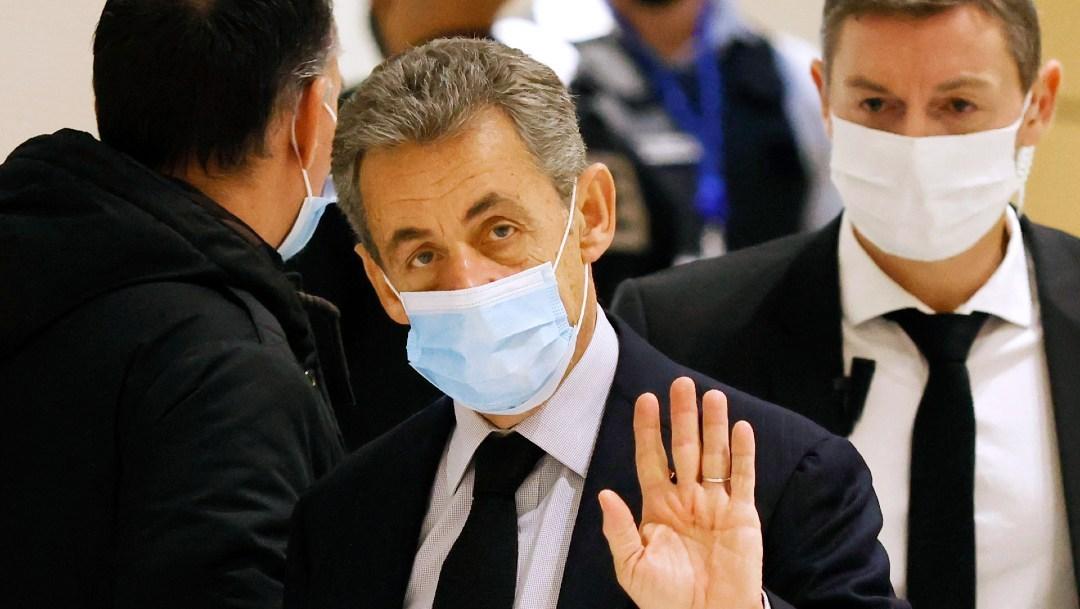 Sarkozy, condenado a tres años de cárcel por corrupción y tráfico de influencias.